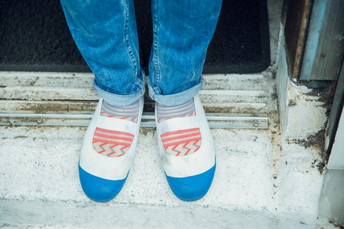 川村さんの足元は「Undo」だけに、運動靴!2階が厨房のため、階段の上り下りもこれだと危なくない。