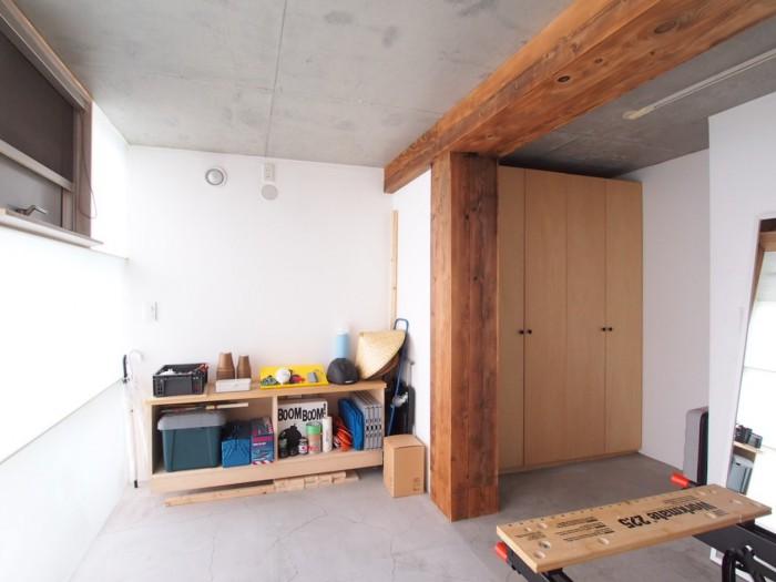 1FのDIY専用のお部屋。ご自身で棚などを作ることも。