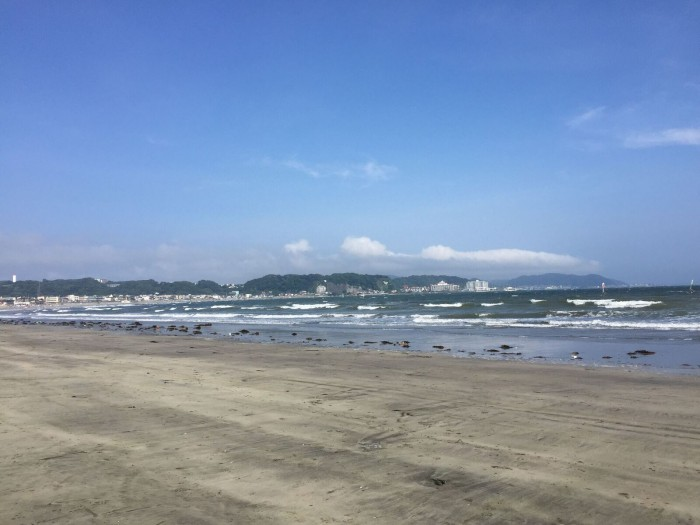 宿からすぐにこの海が広がります