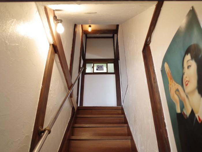 宿泊スペースの2階へ
